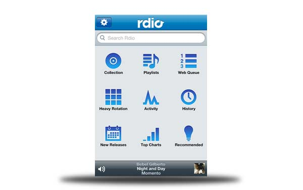 rdio iphone android bb windows phone