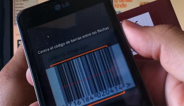 scan codigo barras amazon app android