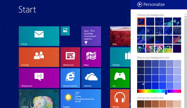 setup windows 8 blue