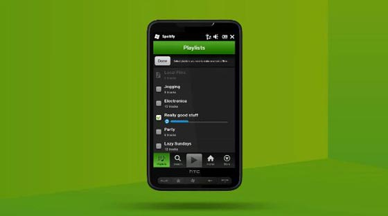spotify windows phone 7