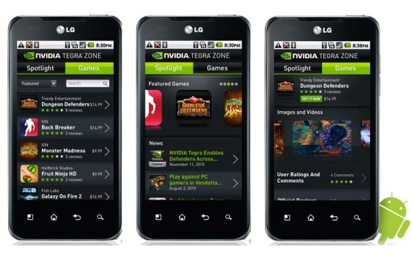 tegra zone movil android