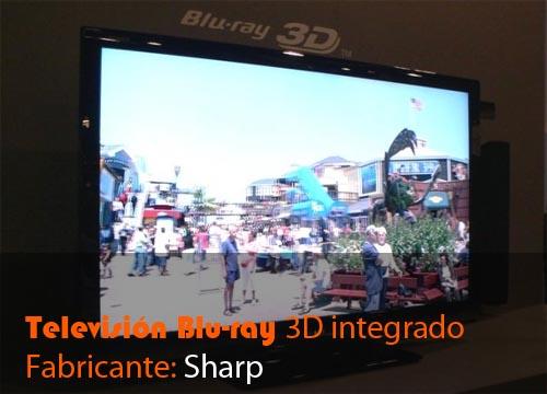 television blu ray 3d integrado
