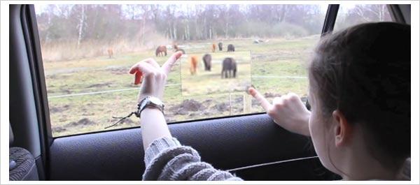toyota ventanas coche interactivas