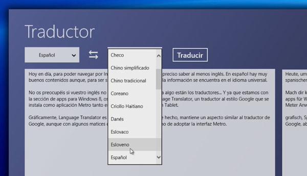 traductor windows 8 rt
