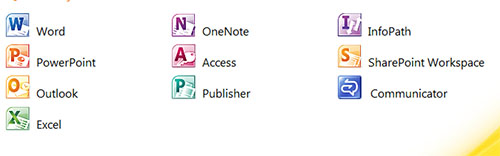 versiones office 2010