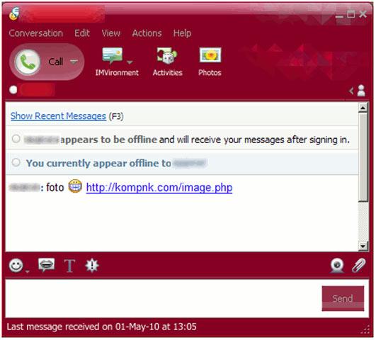 virus yahoo messenger