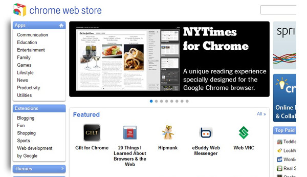 web store chrome apps