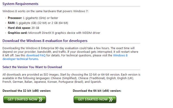 windows 8 requisitos