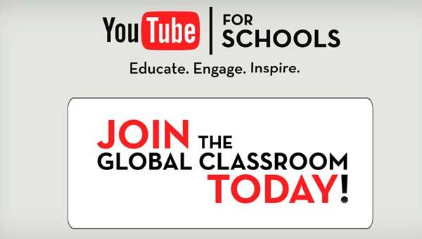 youtube para colegios