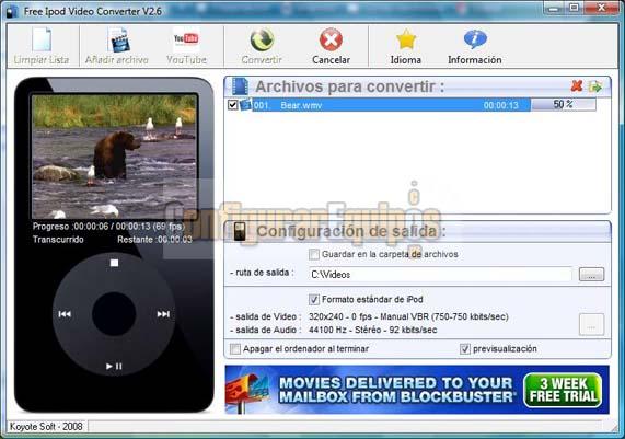 COMO PASAR UN VIDEO DE FORMATO FLV A FORMATO COMPATIBLE CON iPOD Koyote-ipod-04