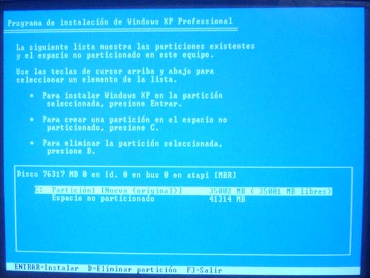 Aprenda a crear particiones en windows xp