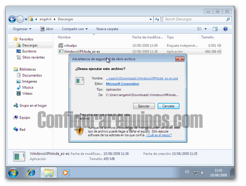 activar modo xp windows 7 1