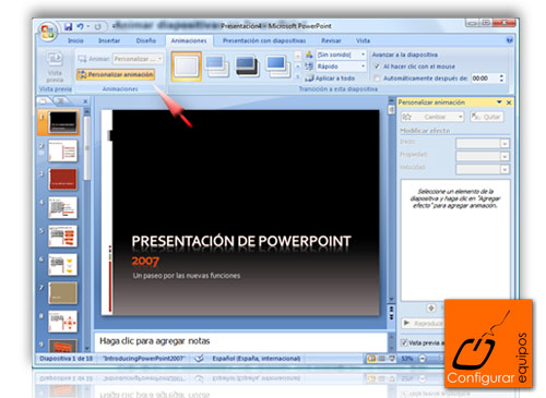 animar diapositivas powerpoint 1