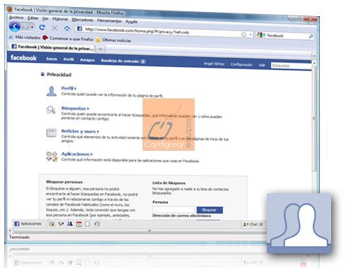 configurar privacidad datos facebook 1