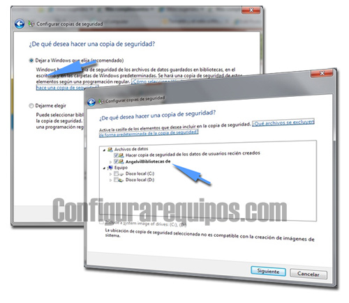 copia seguridad Windows 7
