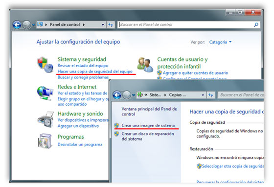 copia sistema windows 7 a
