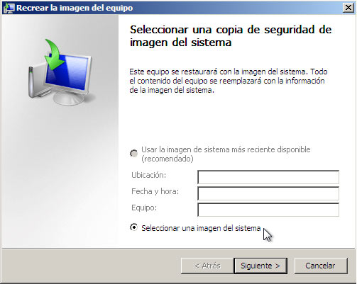 copia sistema windows 7 e