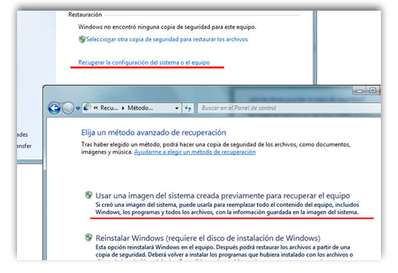 copia sistema windows 7 f