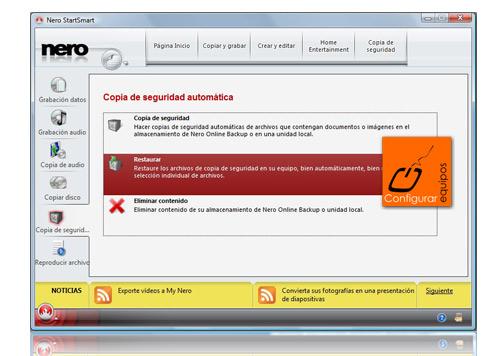 hacer copia seguridad online nero backup 3