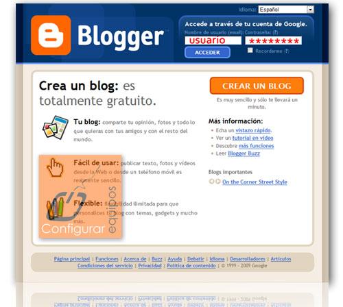 como crear blog personal blogger 1