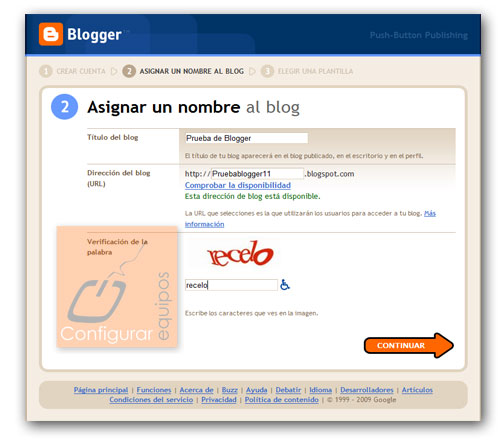 como crear blog personal blogger 2