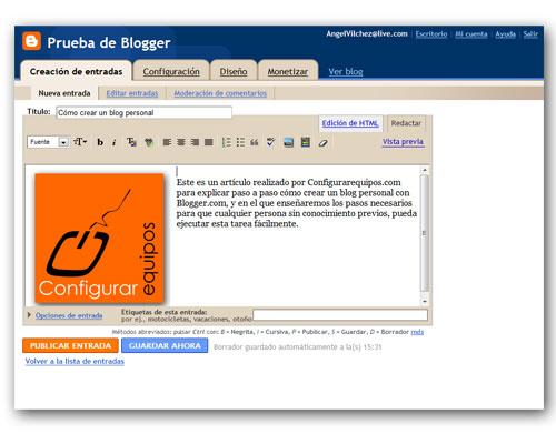 como crear blog personal blogger 4