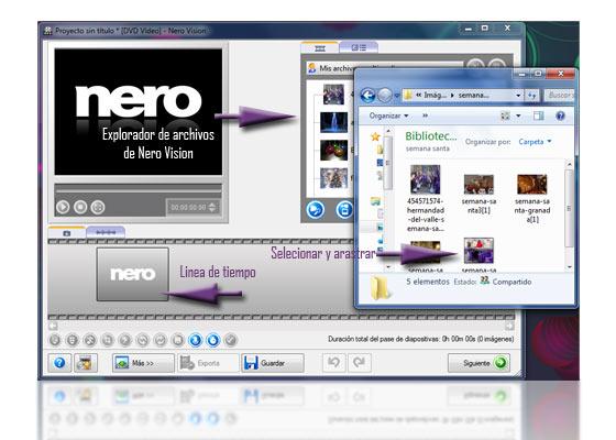 crear dvd diapositivas nero 9 3