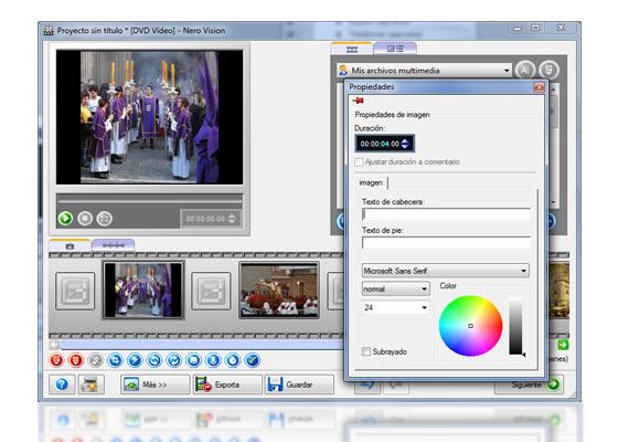 crear dvd diapositivas nero 9 4
