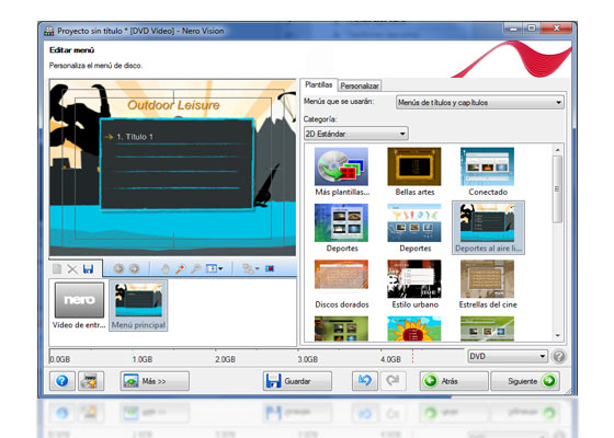 crear dvd diapositivas nero 9 5
