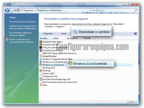 desinstalar windows messenger 2009 1