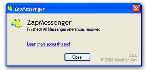 desinstalar windows messenger 2009 2