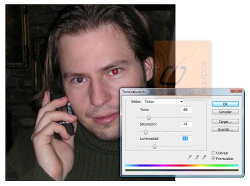 eliminar ojos rojos photoshop 4