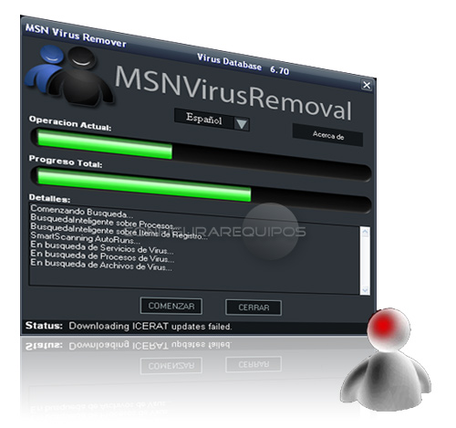 eliminar virus messenger 1
