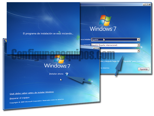 Instalar Windows 7 desde cero