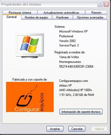 Logo personalizado propiedades sistema