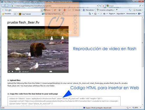 como pasar videos a flash flv swf 4