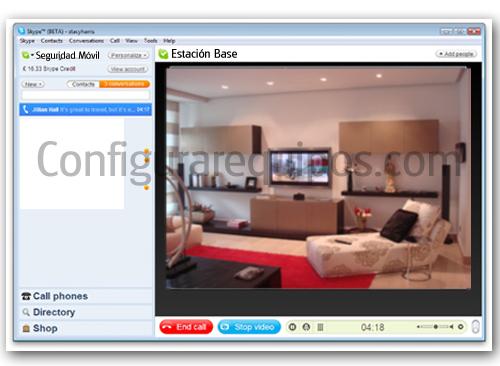 vigilar casa a través de internet con Skype